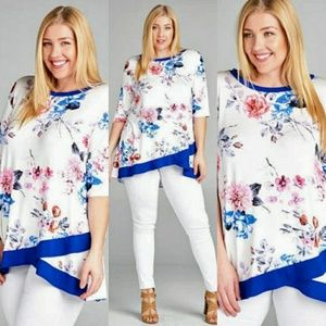 Tops - 🌟🌟New Arrival  Plus Size Floral Jersey Top🌟🌟